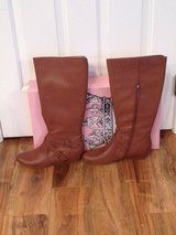 NEW N/BOX WOMENS Crown Vintage WIDE CALF Cognac Lilly BOOTS SIZE 11 in Quantico, Virginia
