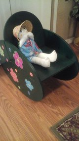 Whimsical Child's Rocking Chair With Hand Made  Baby Doll $5 Chair in Westmont, Illinois