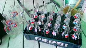 30-Vintage glass 12-Ounce Pepsi Bottles in Quad Cities, Iowa