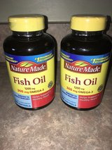 Nature Made Fish Oil 1200mg Omega 3 EPA & DHA Softgels - BRAND NEW - 2 bottles for sale in Naperville, Illinois