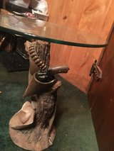 Cowboy end table in Fort Polk, Louisiana