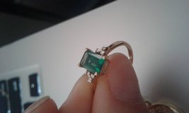 10k Gold Emerald Ring + Matching Necklace in 29 Palms, California