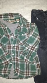 Boys 4T clothes - plaid shirt & corduroys in Glendale Heights, Illinois