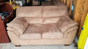 PRICE REDUCED!!! COUCH & LOVESEAT SET, Brown Micro-suede in Tacoma, Washington
