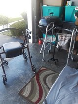 New rolling walker with seat and storage used once in Naperville, Illinois