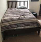 Full Size bedroom set frame, head board and Serta pillow top mattress in Fort Benning, Georgia
