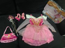 Disney Princess Aurora Costume 3T - 4T with extras in Fort Campbell, Kentucky