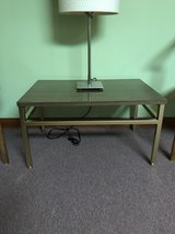 Midcentury Steelcase Laminate and Metal Side Table in Naperville, Illinois