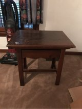 wooden side table in Wilmington, North Carolina