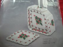 BETT'S CHRISTMAS PLASTIC CANVAS NEEDLEPOINT COASTERS. NEW KIT in Elgin, Illinois