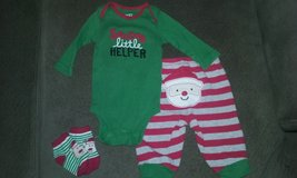3 month Xmas outfit in Bolingbrook, Illinois
