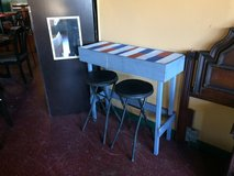 Space Saver Small Table With 2 Stools in Fort Polk, Louisiana
