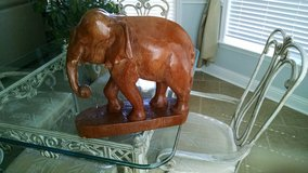 Solid Hand Carved Wooden Elephant/Vintage in Byron, Georgia