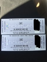 Cake (the band) tickets in Camp Pendleton, California