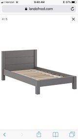 Land of Nod Toddler Bed and Side Table in Naperville, Illinois