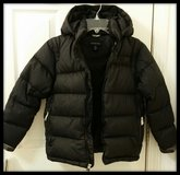 Lands End Boys or Girls black size 7/8 down filled winter coat in Naperville, Illinois