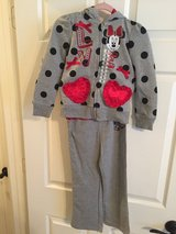 """Girls Disney """"Minnie Mouse""""  Hooded Jogging Suit Size 5 in Kingwood, Texas"""