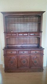 Solid Wood Cabinet Hutch/TV Console (beautiful detail) - $160 in Naperville, Illinois