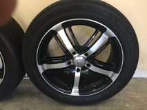 """17"""" Alloy Wheels with Used Tires in Byron, Georgia"""