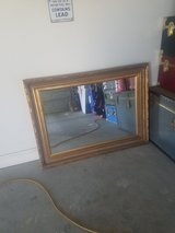 Large gold framed mirror in Yucca Valley, California