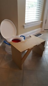 Potty seat home-made table in Aurora, Illinois