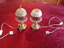 Set of 2 lamps with swarovski crystals for bedroom or living room 220V in Ramstein, Germany