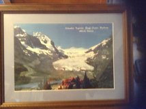 Framed and matted picture of blue glacier in Fort Drum, New York