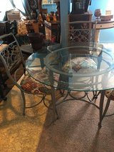 """Indoor out door glass top 48""""round 30""""tall 4 chairs in Kingwood, Texas"""