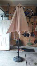 Patio Umbrella and stand (matching pair) in Naperville, Illinois