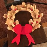Wooden Wreath in St. Charles, Illinois