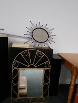 sun rays mirror & arched gold mirror in Tinley Park, Illinois