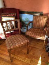 Striped upholstered chairs in Glendale Heights, Illinois