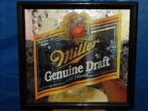 VINTAGE 1994  MILLER GENUINE DRAFT BEER FRAMED BAR MIRROR in Travis AFB, California
