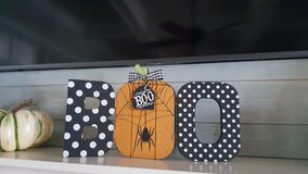 "Wood ""Boo"" Halloween Decor in Beaufort, South Carolina"