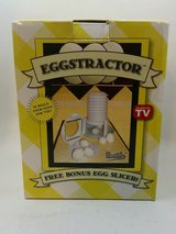 NEW In Box Eggstractor Hard Boilded Egg Peeler With Bonus Slicer As Seen on TV in Joliet, Illinois