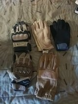 Assorted pairs of gloves in Camp Pendleton, California
