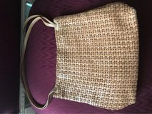 Woven tan leather Shoulder Bag in Lockport, Illinois