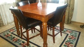 Bar height Butterfly leaf table & 4 chairs in Fort Lewis, Washington