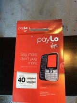 Pay Lo Virgin Mobile Phone, open box, but never used in Orland Park, Illinois