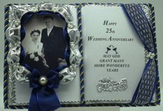25. Wedding Anniversary - Handmade book (with bookstand) Article no. 13 in Grafenwoehr, GE