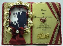 50. Wedding Anniversary - Handmade book (with bookstand) Article no. 2 in Grafenwoehr, GE