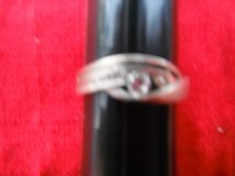 Ladies Silver ring, Size 10 1/2, 1 big jewel and 4 smaller jewels in Yucca Valley, California