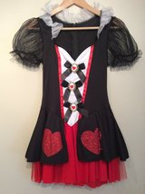Alice in Wonderland Enchanted queen of hearts halloween costume size small(4-8) in Plainfield, Illinois