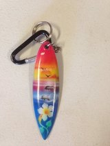 Surfboard key chain from Maui in Plainfield, Illinois