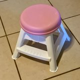 Step2 Pink and White Stool EUC in Travis AFB, California