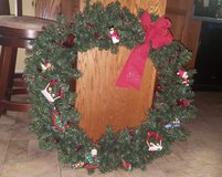 3ft Decorated Christmas Wreath in Fort Campbell, Kentucky