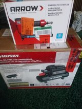 2 gal husky compressor and arrow stapler in Fort Campbell, Kentucky
