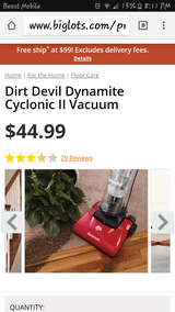Dirt Devil Quick path dynimite 2 vacuum in Yucca Valley, California