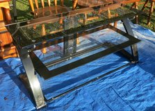 GLASS TV STAND in Cherry Point, North Carolina