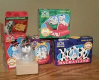 NIB Complete Set of 4 1990s MCDonald's 101 Dalmatians Christmas Ornaments in Fort Leonard Wood, Missouri